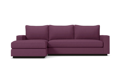 Harper 2pc Sectional Sofa :: Leg Finish: Espresso / Configuration: LAF - Chaise on the Left