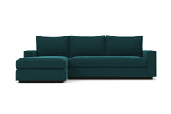 Harper 2pc Sleeper Sectional :: Leg Finish: Espresso / Sleeper Option: Memory Foam Mattress / Configuration: LAF - Chaise on the Left