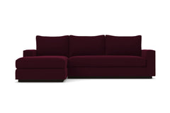 Harper 2pc Sleeper Sectional :: Leg Finish: Espresso / Sleeper Option: Deluxe Innerspring Mattress / Configuration: LAF - Chaise on the Left