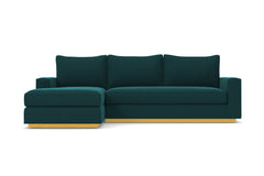 Harper 2pc Sleeper Sectional :: Leg Finish: Natural / Sleeper Option: Deluxe Innerspring Mattress / Configuration: LAF - Chaise on the Left