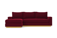 Harper 2pc Sleeper Sectional :: Leg Finish: Natural / Sleeper Option: Memory Foam Mattress / Configuration: LAF - Chaise on the Left