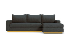 Harper 2pc Sectional Sofa :: Leg Finish: Natural / Configuration: RAF - Chaise on the Right