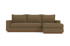 Harper 2pc Sleeper Sectional :: Leg Finish: Pecan / Sleeper Option: Deluxe Innerspring Mattress / Configuration: RAF - Chaise on the Right