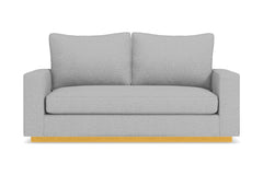 Harper Twin Size Sleeper Sofa :: Leg Finish: Natural / Sleeper Option: Deluxe Innerspring Mattress