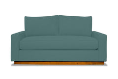 Harper Apartment Size Sleeper Sofa :: Leg Finish: Pecan / Sleeper Option: Deluxe Innerspring Mattress