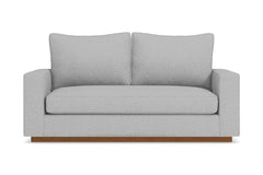 Harper Apartment Size Sleeper Sofa :: Leg Finish: Pecan / Sleeper Option: Memory Foam Mattress