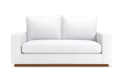 Harper Twin Size Sleeper Sofa :: Leg Finish: Pecan / Sleeper Option: Deluxe Innerspring Mattress