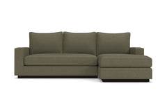 Harper Reversible Chaise Sleeper Sofa :: Leg Finish: Espresso / Sleeper Option: Memory Foam Mattress