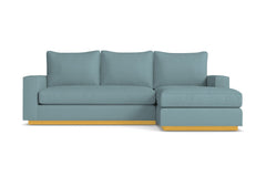 Harper Reversible Chaise Sleeper Sofa :: Leg Finish: Natural / Sleeper Option: Deluxe Innerspring Mattress