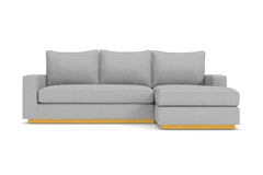 Harper Reversible Chaise Sleeper Sofa :: Leg Finish: Natural / Sleeper Option: Memory Foam Mattress