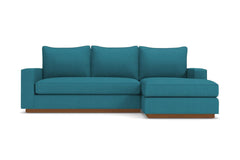 Harper Reversible Chaise Sofa :: Leg Finish: Pecan