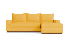 Harper Reversible Chaise Sleeper Sofa :: Leg Finish: Pecan / Sleeper Option: Deluxe Innerspring Mattress