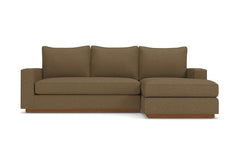 Harper Reversible Chaise Sleeper Sofa :: Leg Finish: Pecan / Sleeper Option: Memory Foam Mattress