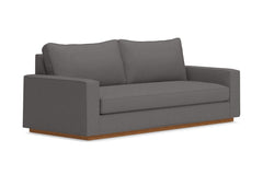Harper Queen Size Sleeper Sofa :: Leg Finish: Pecan / Sleeper Option: Memory Foam Mattress