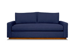 Harper Queen Size Sleeper Sofa :: Leg Finish: Pecan / Sleeper Option: Deluxe Innerspring Mattress