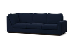 Harper Right Arm Corner Sofa :: Leg Finish: Espresso / Configuration: RAF - Chaise on the Right