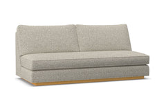 Harper Armless Sofa w/ Benchseat :: Leg Finish: Natural