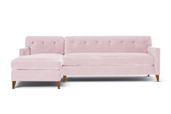 Harrison 2pc Sectional Sofa :: Leg Finish: Pecan / Configuration: LAF - Chaise on the Left