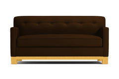 Harrison Ave Twin Size Sleeper Sofa :: Leg Finish: Natural / Sleeper Option: Memory Foam Mattress