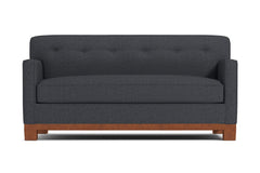 Harrison Ave Twin Size Sleeper Sofa :: Leg Finish: Pecan / Sleeper Option: Deluxe Innerspring Mattress