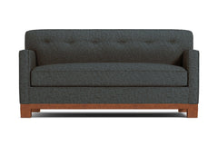 Harrison Ave Twin Size Sleeper Sofa :: Leg Finish: Pecan / Sleeper Option: Memory Foam Mattress