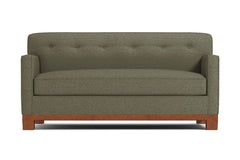 Harrison Ave Apartment Size Sleeper Sofa :: Leg Finish: Pecan / Sleeper Option: Deluxe Innerspring Mattress