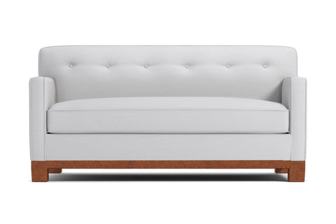 Harrison Ave Apartment Size Sleeper Sofa :: Leg Finish: Pecan / Mattress Type: Deluxe Innerspring Mattress