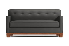 Harrison Ave Apartment Size Sleeper Sofa :: Leg Finish: Pecan / Sleeper Option: Memory Foam Mattress