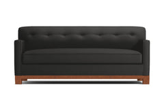 Harrison Ave Queen Size Sleeper Sofa :: Leg Finish: Pecan / Sleeper Option: Deluxe Innerspring Mattress