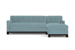Harrison Ave 2pc Sleeper Sectional :: Leg Finish: Espresso / Configuration: RAF - Chaise on the Right / Sleeper Option: Memory Foam Mattress