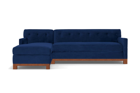 Harrison Ave 2pc Sleeper Sectional :: Leg Finish: Pecan / Configuration: LAF - Chaise on the Left / Sleeper Option: Deluxe Innerspring Mattress