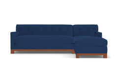 Harrison Ave 2pc Sleeper Sectional :: Leg Finish: Pecan / Configuration: RAF - Chaise on the Right / Sleeper Option: Deluxe Innerspring Mattress