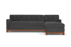 Harrison Ave 2pc Sectional Sofa :: Leg Finish: Pecan / Configuration: RAF - Chaise on the Right