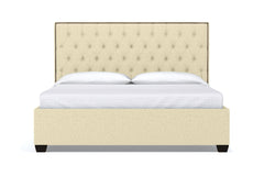 Huntley Drive Upholstered Bed :: Leg Finish: Espresso / Size: Eastern King