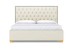 Huntley Drive Upholstered Bed :: Leg Finish: Natural / Size: California King