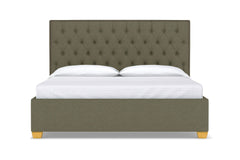 Huntley Drive Upholstered Bed :: Leg Finish: Natural / Size: Queen Size