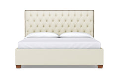Huntley Drive Upholstered Bed :: Leg Finish: Pecan / Size: Queen Size