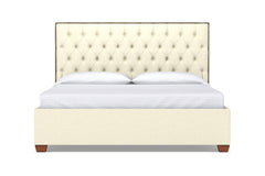 Huntley Drive Upholstered Bed :: Leg Finish: Pecan / Size: Full Size