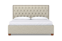 Huntley Drive Upholstered Bed :: Leg Finish: Pecan / Size: California King