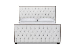 Huntley Tufted Upholstered Bed :: Leg Finish: Espresso / Size: Eastern King