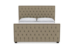 Huntley Tufted Upholstered Bed :: Leg Finish: Espresso / Size: California King