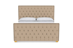 Huntley Tufted Upholstered Bed :: Leg Finish: Natural / Size: Queen Size