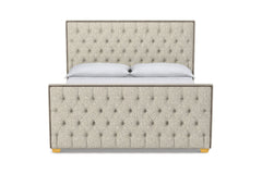 Huntley Tufted Upholstered Bed :: Leg Finish: Natural / Size: Eastern King