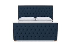 Huntley Tufted Upholstered Bed :: Leg Finish: Pecan / Size: King