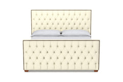 Huntley Tufted Upholstered Bed :: Leg Finish: Pecan / Size: Queen Size
