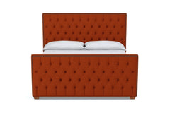 Huntley Tufted Upholstered Bed :: Leg Finish: Pecan / Size: California King