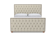 Huntley Tufted Upholstered Bed :: Leg Finish: Pecan / Size: Eastern King