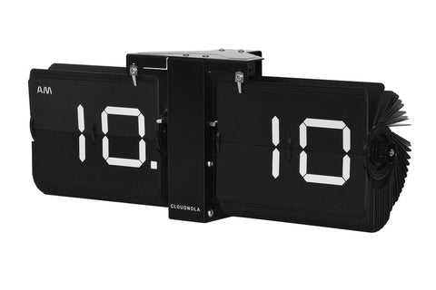 Flipping Out Clock by Cloudnola BLACK/BLACK