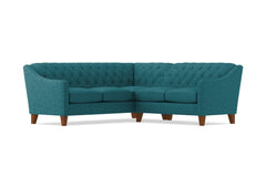 Jackson 2pc Sectional Sofa :: Leg Finish: Pecan