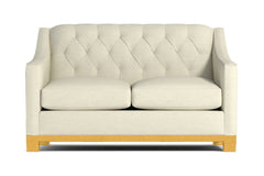 Jackson Heights Apartment Size Sleeper Sofa :: Leg Finish: Natural / Sleeper Option: Memory Foam Mattress